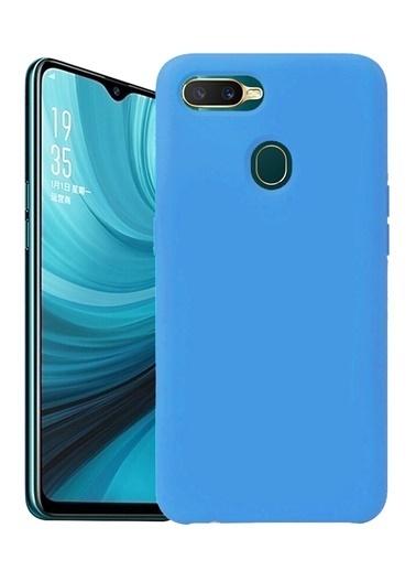 MobilCadde Oppo AX7 Oppo A5s Eiroo Lansman Silikon Telefon Kılıfı Mavi